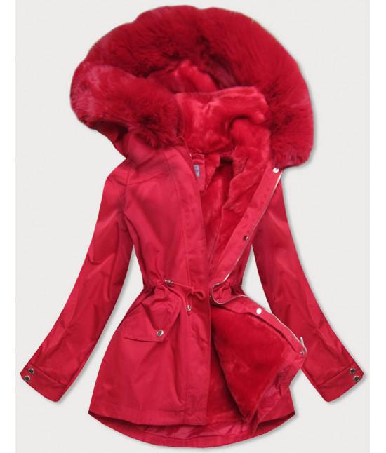 Dámska zimná bunda s odopínateľnou teplou podšívkou MODA2717 červená