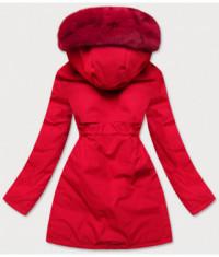 damska-zimna-bunda-s-ozdobnou-podsivkou-moda576-cervena