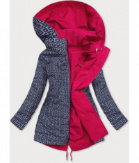 Dámska obojstranná jesenná bunda parka MODA580 ružová