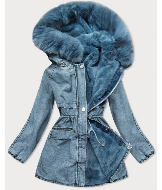 Dámska jeansová bunda MODA599 modrá