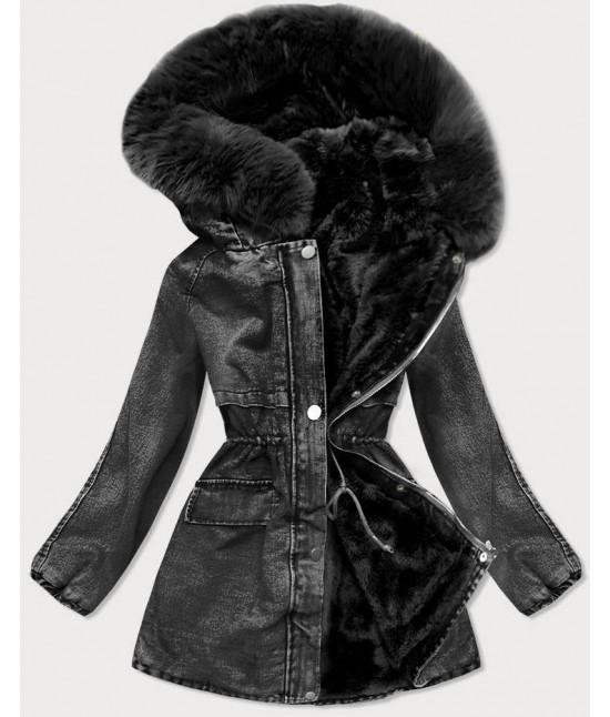 Dámska jeansová bunda MODA599 čierna