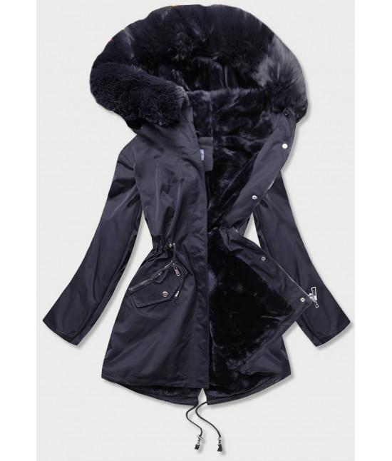 Dámska zimná bunda MODA718 tmavomodrá