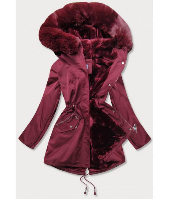Dámska zimná bunda MODA718 bordová