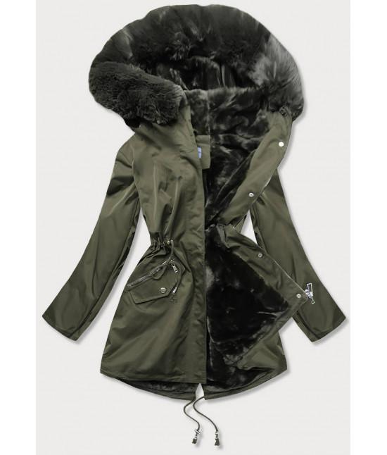 Dámska zimná bunda MODA718 khaki