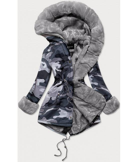Dámska zimná bunda parka MODA524 šedá