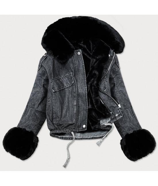 Dámska jeansová bunda MODA020 čierna