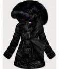 Dámska asymetrická zimná bunda MODA8953 čierna
