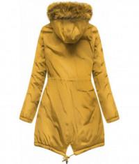 Dámska obojstranná zimná bunda MODA911 žltá