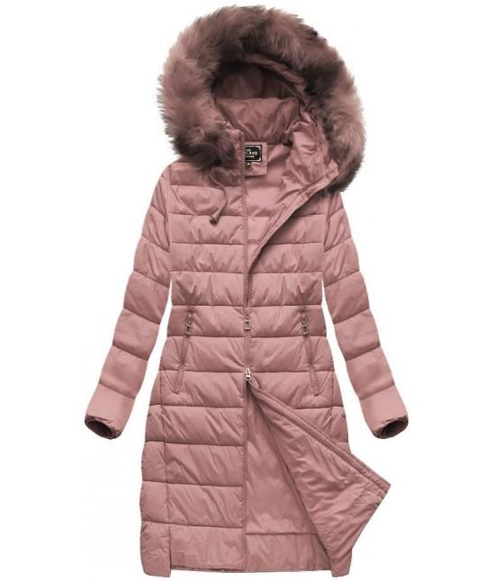 Dámska zimná bunda MODA754BIG staroružová 7XL