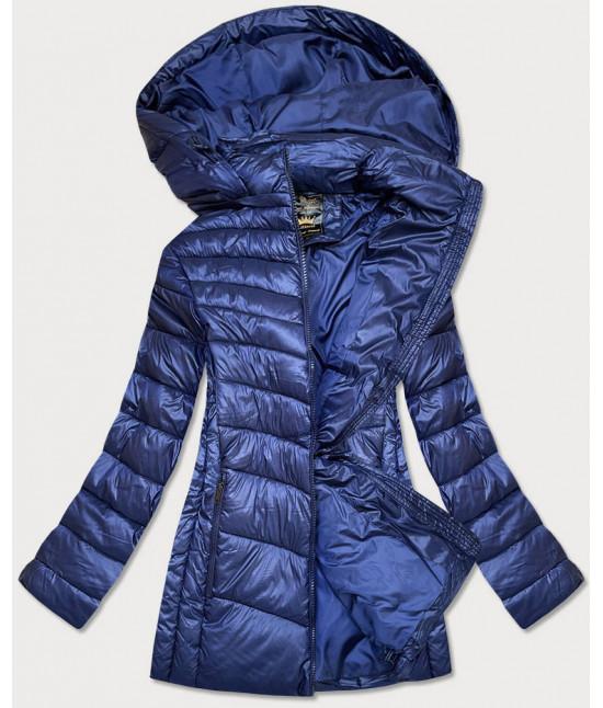 Dámska zimná bunda MODA7723PLUS modrá 7XL