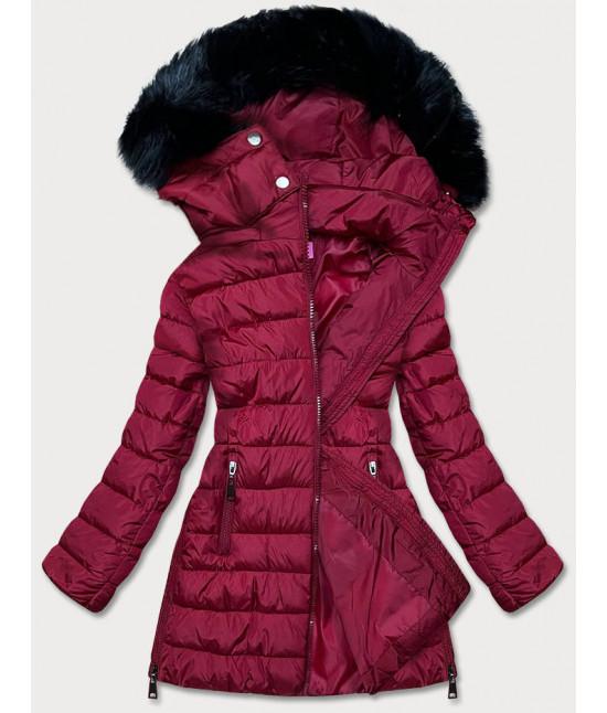 Dámska zimná bunda MODA975 bordova