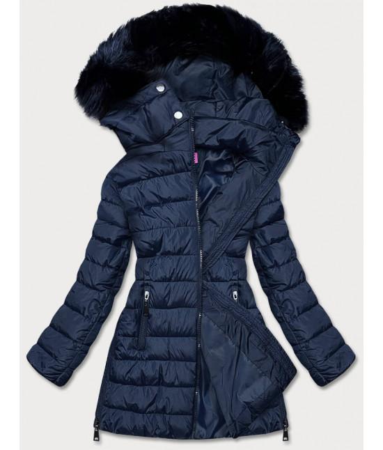 Dámska zimná bunda MODA975 tmavomodrá