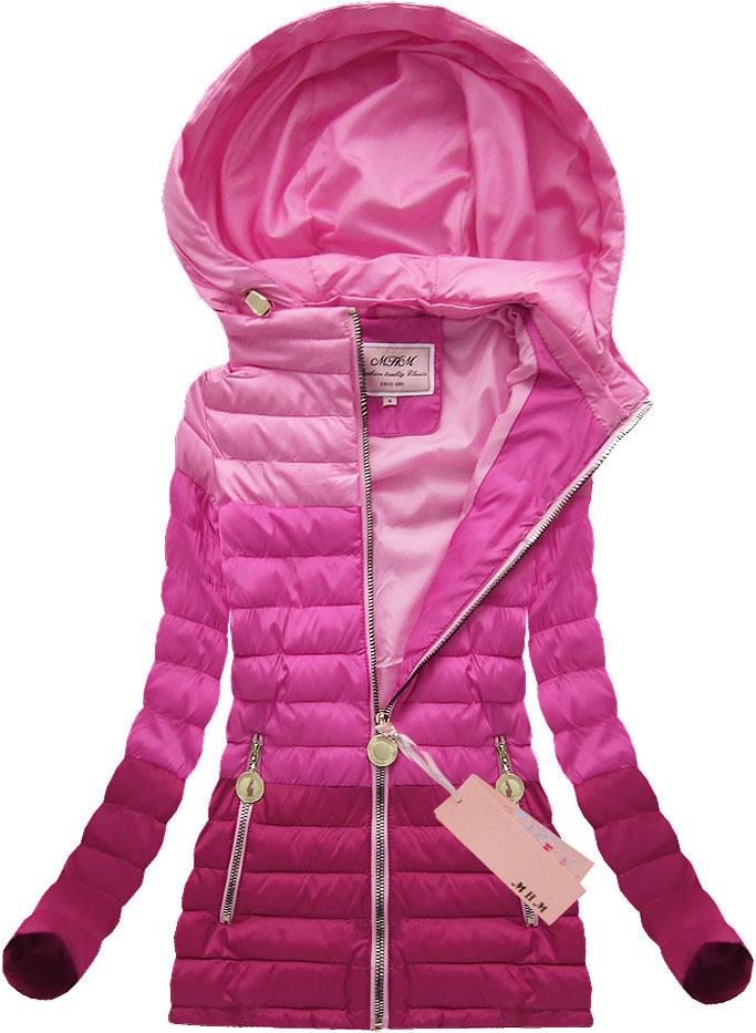 dámska jarná bunda ružová