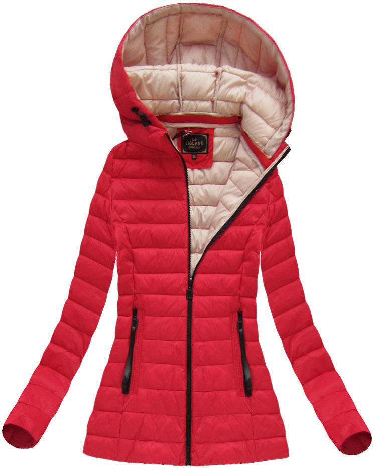 dámska prechodná bunda červená